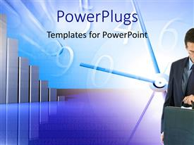 PowerPlugs: PowerPoint template with a person with a clock in the background