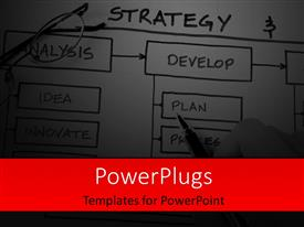 PowerPlugs: PowerPoint template with business Strategy Organizational & Planning charts in dark