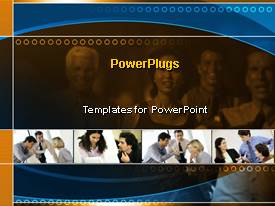 PowerPlugs: PowerPoint template with business team leaders collaborations work skills communication careers meetings