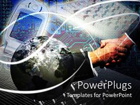 PowerPlugs: PowerPoint template with business and the technology people shaking hands with each other