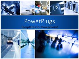 PowerPlugs: PowerPoint template with business travel background about rail and air travel