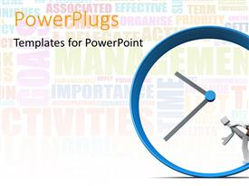 PowerPlugs: PowerPoint template with a clock with a running figure