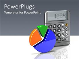PowerPlugs: PowerPoint template with a calculator and a pie chart