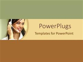 PowerPlugs: PowerPoint template with a call center girl dealing with customers