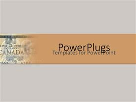 PowerPlugs: PowerPoint template with canadian dollar notes on grey background