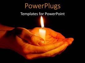 PowerPlugs: PowerPoint template with a pair of hands holding the candle