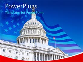 PowerPlugs: PowerPoint template with uS Capitol over blue sky, Washington DC