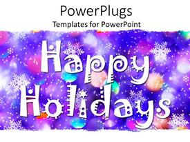 PowerPlugs: PowerPoint template with celebrating the holidays in a colorful way