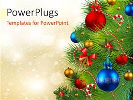 PowerPlugs: PowerPoint template with the celebration of Christmas by arranging the Christmas tree