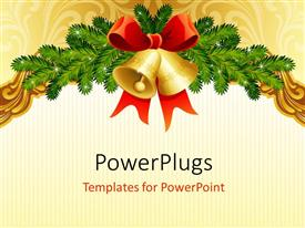 PowerPlugs: PowerPoint template with the celebration of the Christmas with place for text