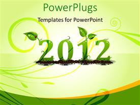 PowerPlugs: PowerPoint template with the celebration of happy new year 2012