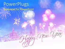 PowerPlugs: PowerPoint template with a celebration mode in the background with place for text