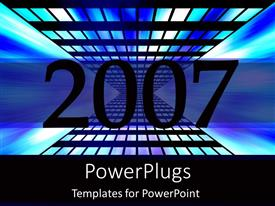 PowerPoint template displaying the celebration of the new year 2007