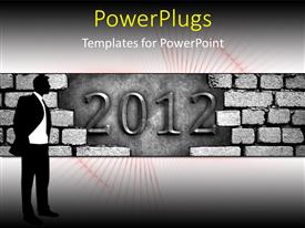 PowerPlugs: PowerPoint template with the celebration of the new year 2012