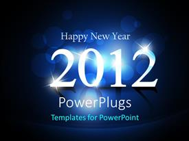 PowerPlugs: PowerPoint template with the celebration of the new year of 2012