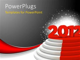 Powerpoint template award presentation on podium with winning presentation design consisting of the celebration of the new year 2012 with grayish background toneelgroepblik Gallery