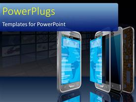 PowerPlugs: PowerPoint template with a cell phone with its reflection in the mirror