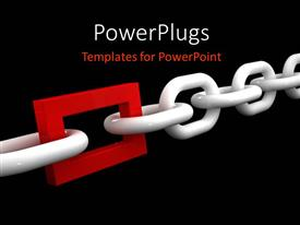 PowerPlugs: PowerPoint template with a chain with an addition of a rectangle