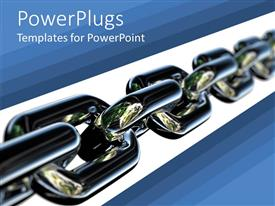 PowerPlugs: PowerPoint template with a chain with white and blue background