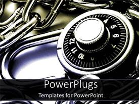 PowerPlugs: PowerPoint template with chains and lockers padlocks white and black background metaphor