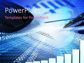 PowerPlugs: PowerPoint template with a bluish background with various numbers