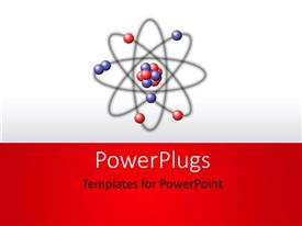 PowerPlugs: PowerPoint template with a chemical bond with a white background