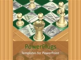 PowerPlugs: PowerPoint template with a chess board made of dollar notes