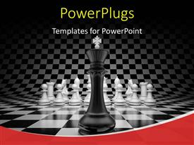 PowerPlugs: PowerPoint template with chess king in front of other pieces on board