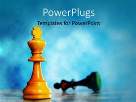 PowerPlugs: PowerPoint template with a chess piece with blurr background and place for text