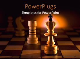PowerPlugs: PowerPoint template with a chess piece with a cross on it on a chess board