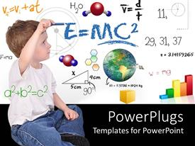 PowerPlugs: PowerPoint template with child with formulas and equations