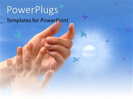PowerPlugs: PowerPoint template with a child trying to hold her mother's hand