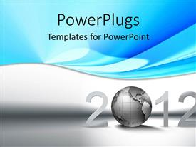 PowerPlugs: PowerPoint template with a text that spells out the word '2012' on a white background