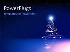 PowerPoint template displaying a Christmas background with stars and place for text