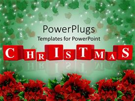 PowerPlugs: PowerPoint template with christmas being celebrated with the help of flowers