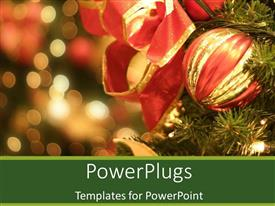 PowerPlugs: PowerPoint template with the Christmas celebration with city lights in the background