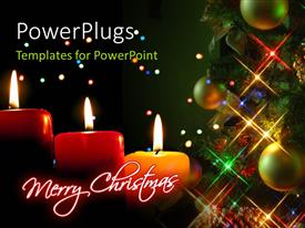 PowerPlugs: PowerPoint template with a Christmas celebration with the help of candles
