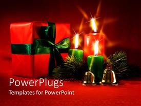 PowerPlugs: PowerPoint template with the Christmas celebration with a number of candles