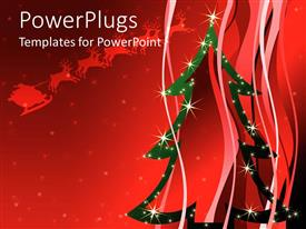 PowerPlugs: PowerPoint template with christmas celebration with a reddish background