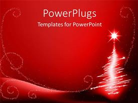 PowerPlugs: PowerPoint template with the Christmas celebration with reddish background