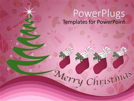 PowerPlugs: PowerPoint template with a Christmas celebration with the reflection in the background