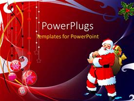 PowerPlugs: PowerPoint template with a Christmas related background with a Santa