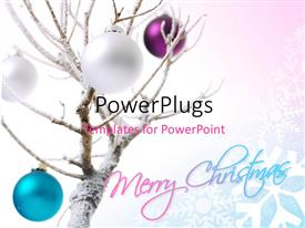 PowerPlugs: PowerPoint template with a Christmas tree with a number of colorful balls