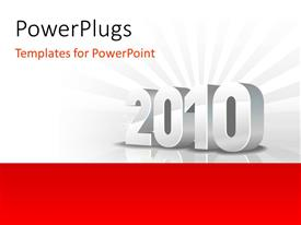 PowerPlugs: PowerPoint template with chrome 3D 2010 sparkling on grey background