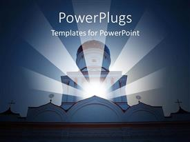 PowerPlugs: PowerPoint template with a church and a glassy globe in it