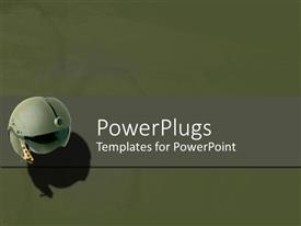 PowerPlugs: PowerPoint template with a circular object on a plain grey colored tile