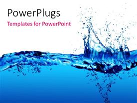 PowerPlugs: PowerPoint template with clean fresh blue water splash