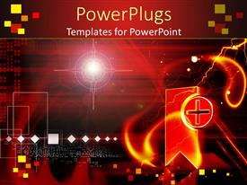 PowerPoint template displaying clinical symbol in red colored background