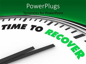 PowerPlugs: PowerPoint template with clock with clock hand set on TIME TO RECOVER