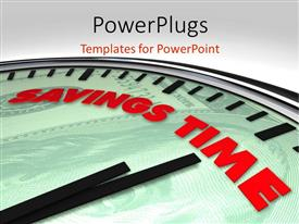 PowerPlugs: PowerPoint template with a clock with a grey background